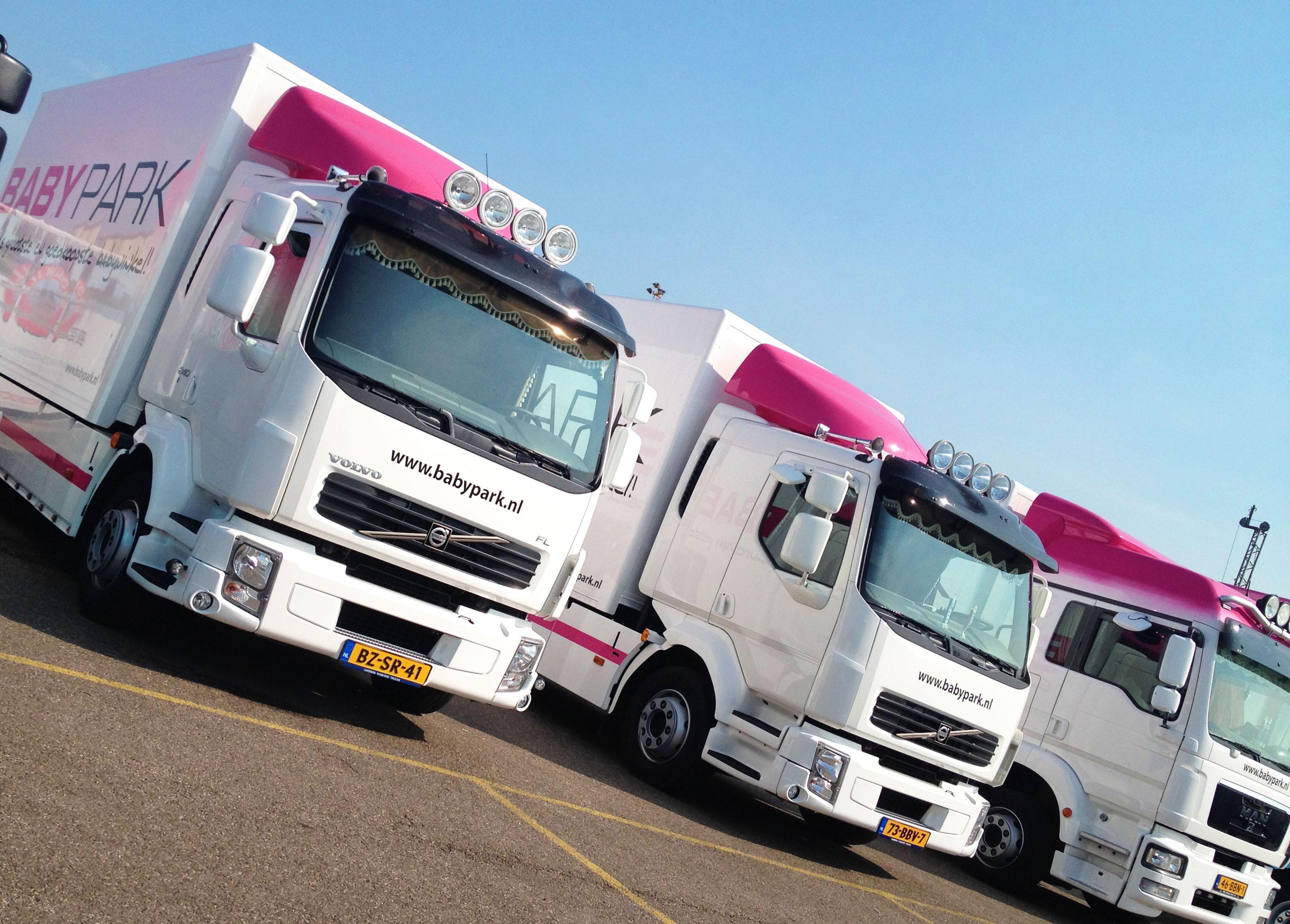 babypark vrachtwagens