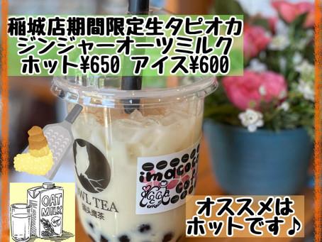 OWL TEA稲城店で限定ドリンク「ジンジャーオーツミルク」販売開始!