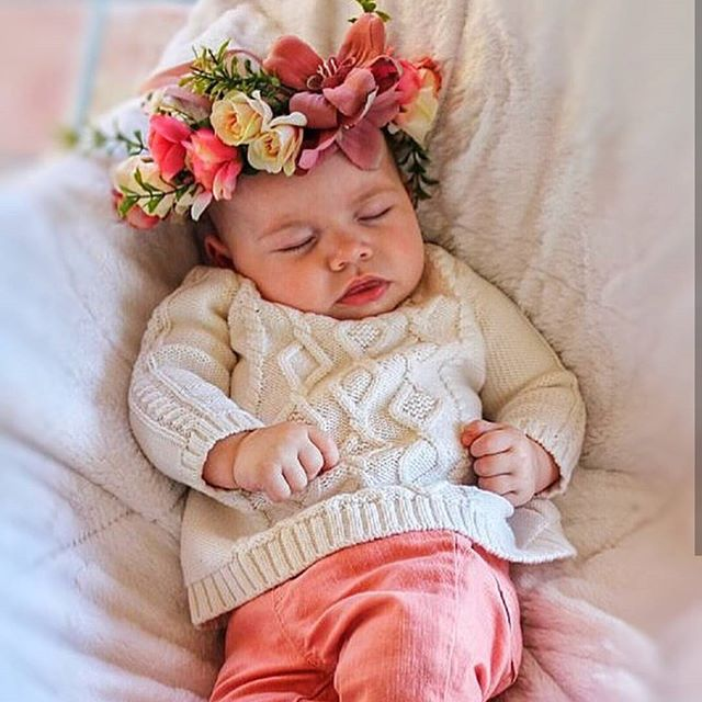 So precious in her gorgeous flower crown! Flower crowns in all different styles will be in the Augus