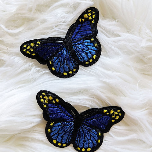 Set of two butterfly clips! Perfect for pigtails