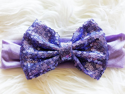 Purple Sequin on soft nylon band