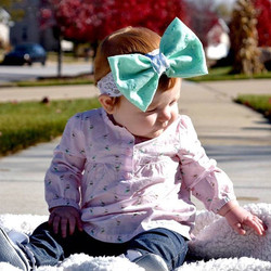JUST RESTOCKED - Just Gorgeous sweetheart in our mint bow on lace! This one sold out fast last time