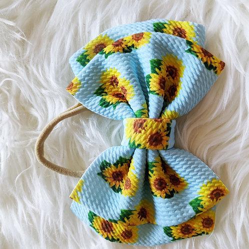 Sunflower bow on nylon