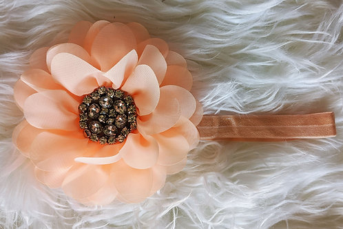 Peach flower on band