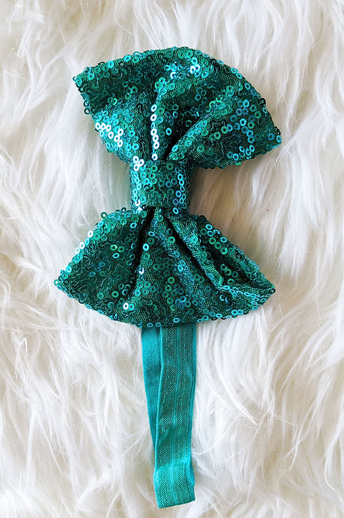 Green Sequin on band