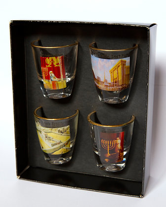 The Temple Institute shot glass gift box.