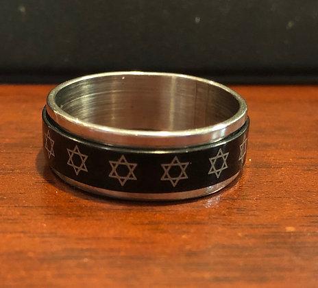 טבעת רודיום מכסף