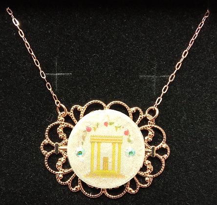 שרשרת בית המקדש: דגם וינטאז' זהב אדום