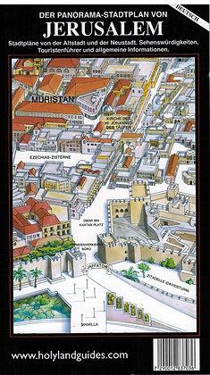 DER PANORAMA STADTPLAN VON JERUSALEM