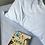 Thumbnail: Lençol de Baixo Solteiro Liso Azul Claro Chambray