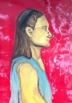 Portrait of Art Teacher in Oil