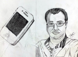 IPhone and Self Portrait
