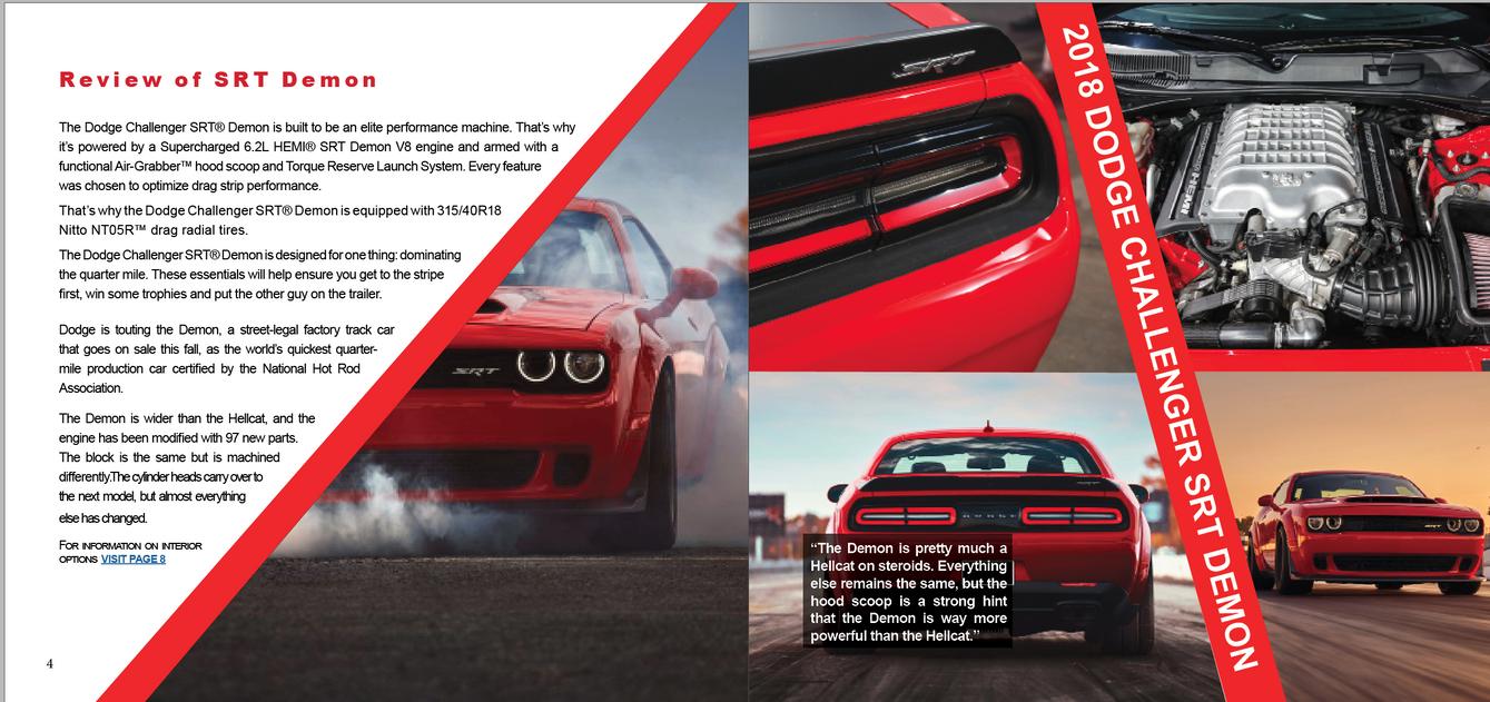 Dodge Challanger Capabilities Brochure