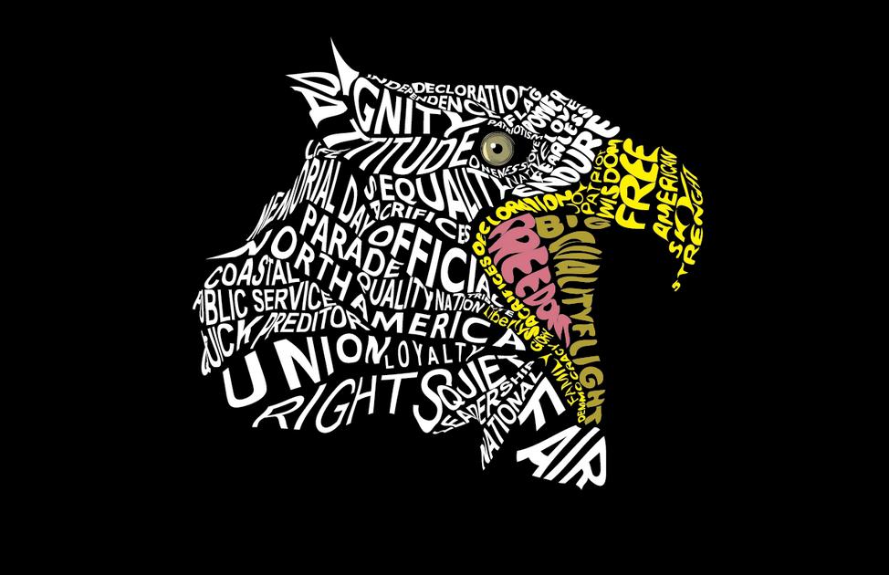 Typographic Eagle