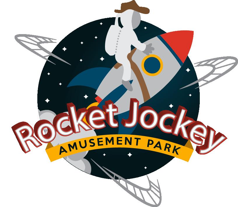 Rocket Jockey Amusement Park Logo