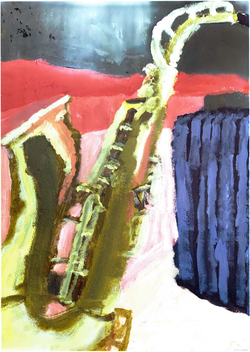 Saxophone in Acrylic