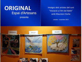 Exposición de Obras de los Alumnos del Curso de Batik - Exhibition of Works made by students of the