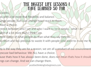 10 of the Biggest Lessons I Have Learned so Far