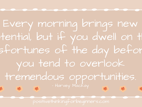 How to start your day with a great attitude that will set the tone for the rest of the day!