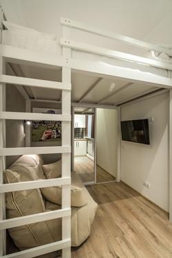 Лестница в семейном апартаменте-студ