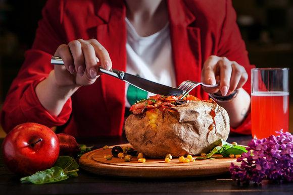 Фаршированный картофель с филе