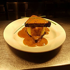 Black Pudding and Potato Cake Stack