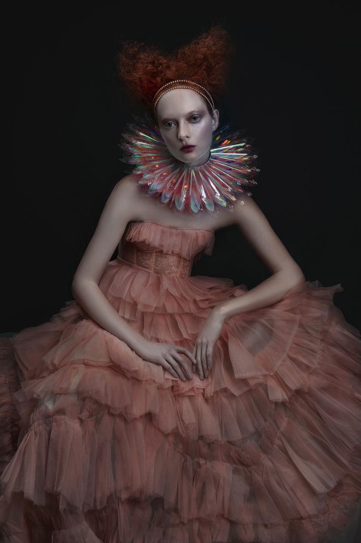 Iridescent Collar Photo: Ekaterina Makeup: Viktorija Bowers Hair Stylist: Radmila Borkovic Wardrobe: Corvus + Crux