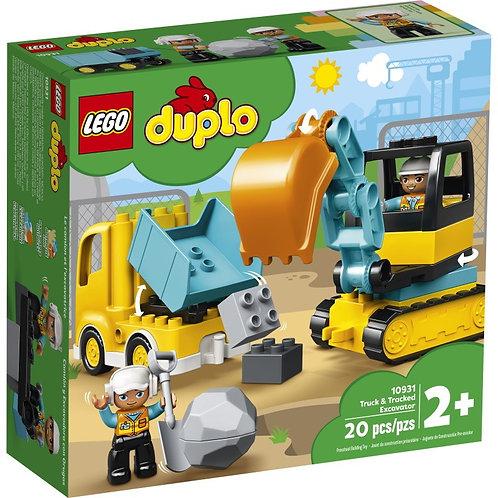 LEGO DUPLO 10931 Camion și excavator / Грузовик и гусеничный экскаватор