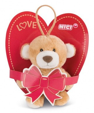 NICI 42769 Ursulet LOVE / Мишка на веревочке 10 cm