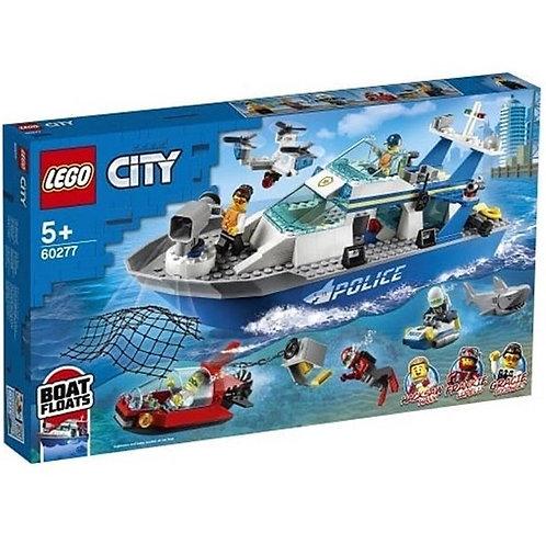 LEGO CITY 60277 Politie - Barca de patrulare / Полиция - патрульная лодка