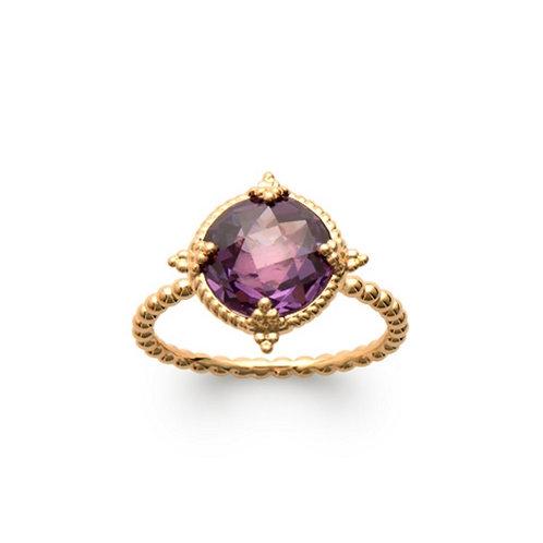 Inel cu violet cubic zirconia / Кольцо с фиолетовым кубическим цирконием