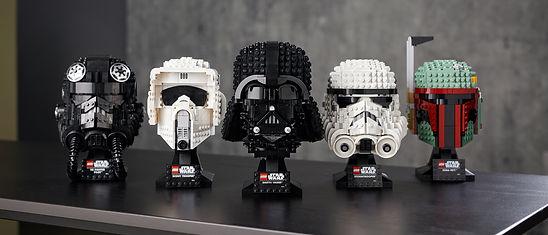 LEGO-Star-Wars-Helmet-Collection-all-fiv