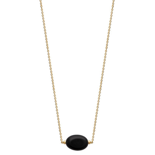 Colier cu agat negru 45 cm / Колье с черным агатом 45 см