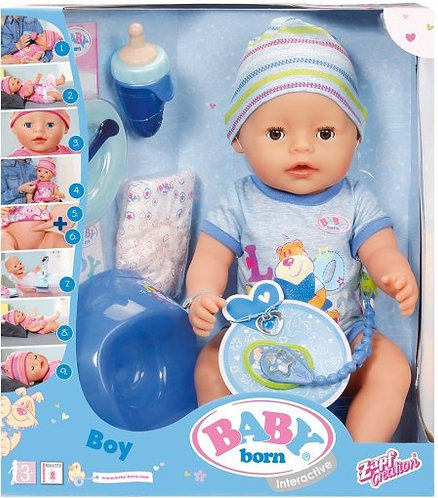 Интерактивная кукла-мальчик Baby Born, 822012