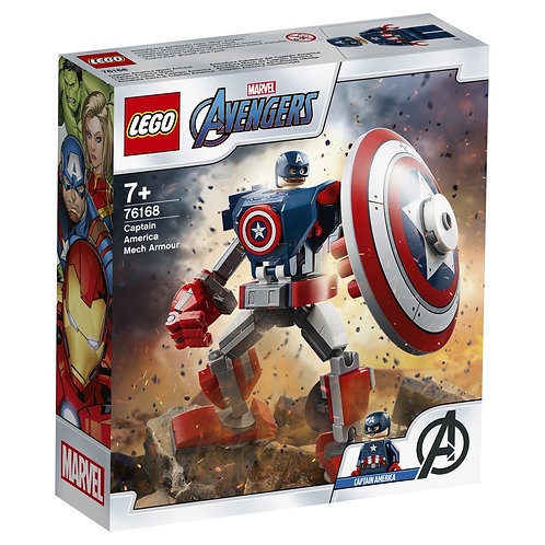 LEGO SUPER HERO 76168 Armura lui Captain America / Робот Капитан Америка