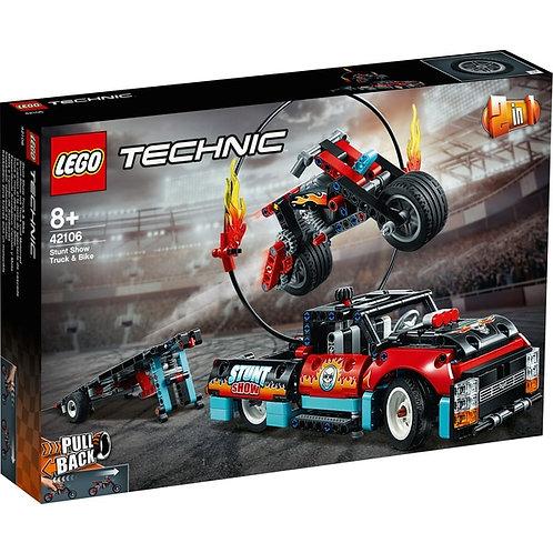 LEGO TECHNIC 42106  Грузовик и мотоцикл для каскадеров / Camioane și motociclete