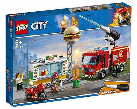 LEGO CITY 60214 Stingerea incendiului de la Burger Bar / Пожар в бургер-кафе