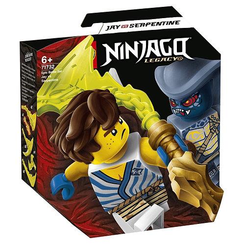 LEGO Ninjago 71732 Batalie epica - Jay vs. Serpentine / Джей против воина-серпен