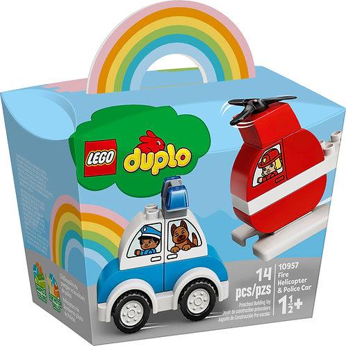 LEGO DUPLO 10957 Elicopter de pompieri si masina de politie / Пожарный вертолет