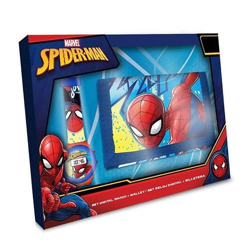 Spider man Set ceas + portmoneu / Подарочный набор Часы + кошелек