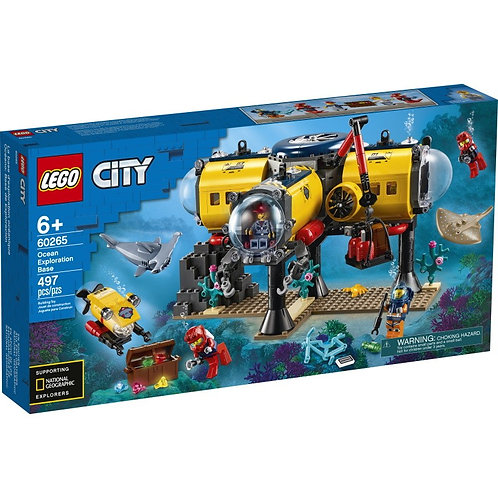 LEGO CITY 60265 Baza de explorare a oceanului / Исследовательская база