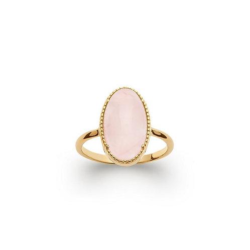 Inel cu cuarț trandafir / Кольцо с розовым кварцем