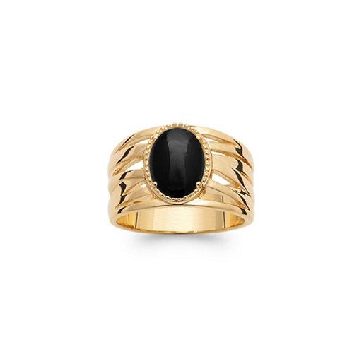 Inel cu agat negru / Кольцо с черным агатом
