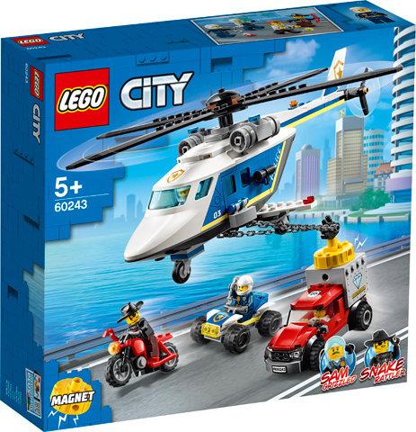 LEGO CITY 60243 Urmarire cu elicopterul politiei/Погоня на полицейском вертолёте