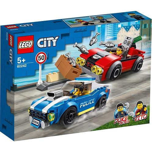 LEGO CITY 60242 Arest pe autostrada / Полицейское задержание на шоссе