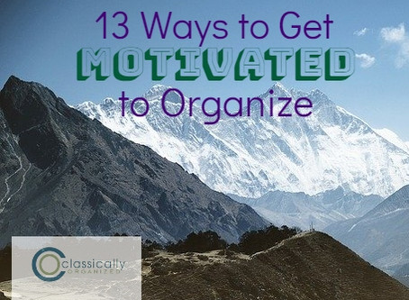 13 Ways to Get Motivated to Organize