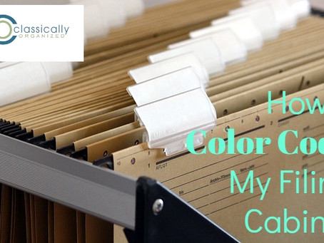 How I Color Code My Filing Cabinet