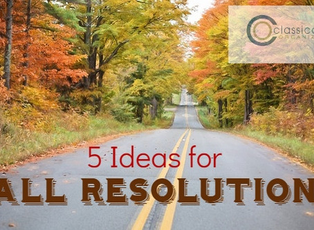 5 Ideas Fall Resolutions