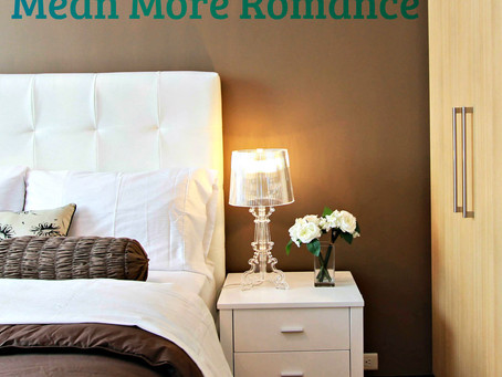 Uncluttered Bedrooms Mean More Romance