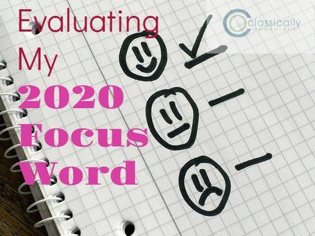 Evaluating my 2020 Focus Word